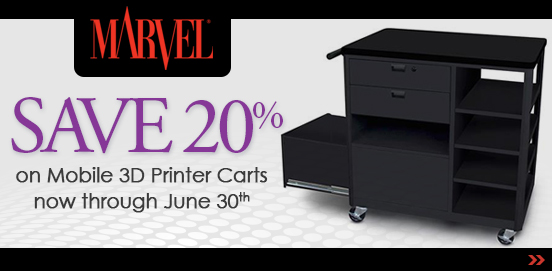 Save on Marvel Mobile 3D Printer carts from now through June