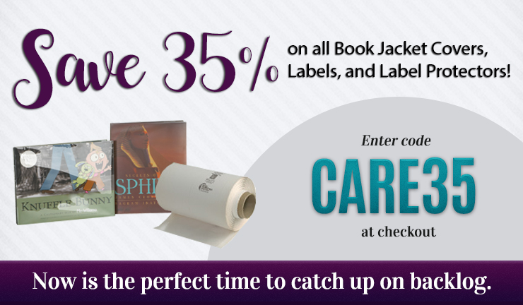 Save on Book Jacket Covers, Labels and Label Protectors, Ends November 19, 2020
