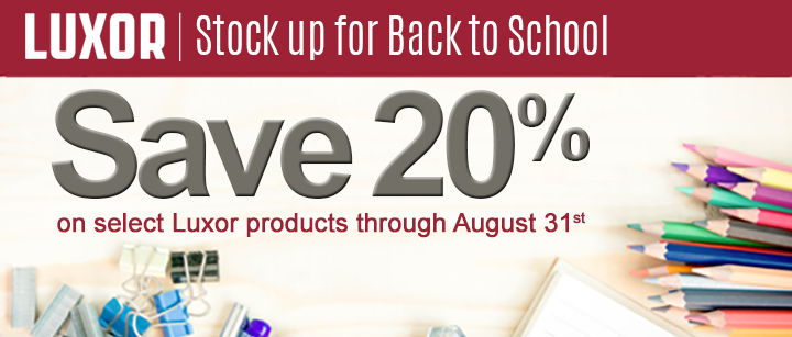 Luxor Back to School Sale