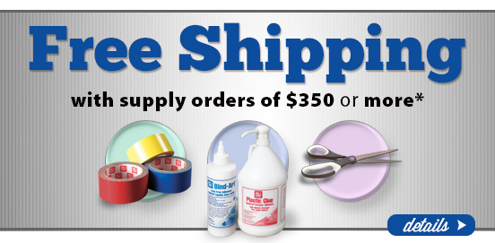 Sale Extended! Save with Free Shipping with Supply Orders of $350 or More!  Some Exclusions apply. Offer Ends 06/26/2016