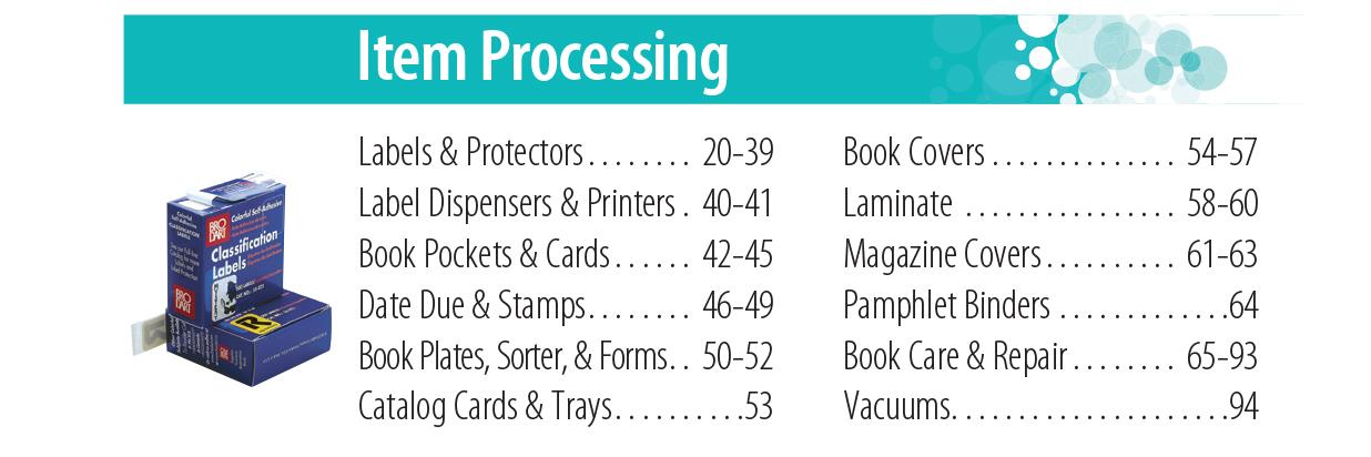 Item Processing