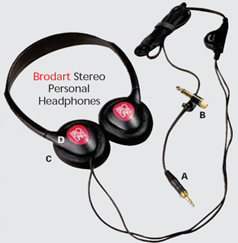 Brodart Stereo Headphones Diagram