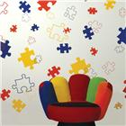 Image of Brodart Puzzle Pieces Vinyl Wall Art