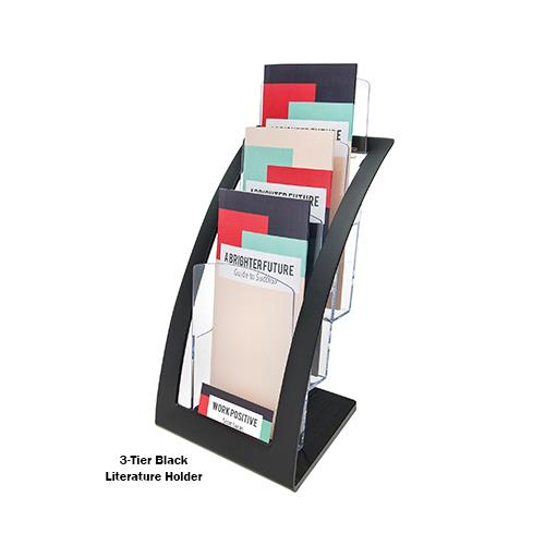 Deflecto Contemporary 3-Tier Literature and Magazine Holders
